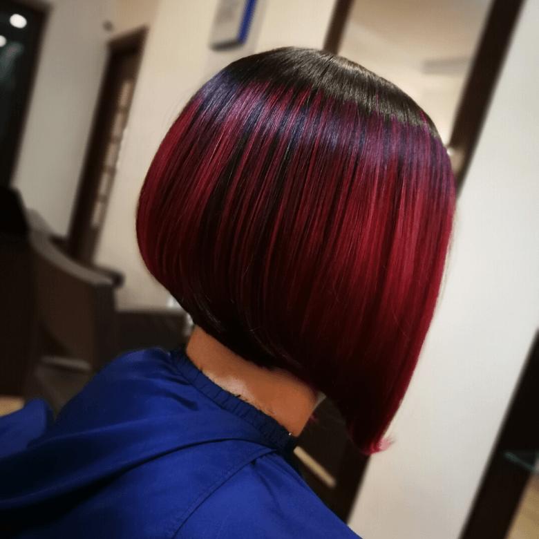 Fryzjer Pszczyna - modne kolory włosów, bordowy